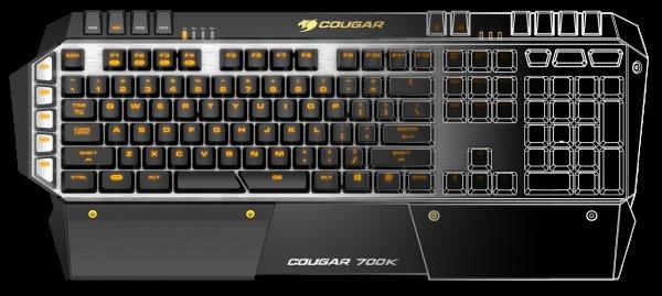 Cougar 700K Gaming Tastatur mit Cherry-MX Brown-Switches und DE Layout für 119,90€ + 3,99 Versand @ Caseking