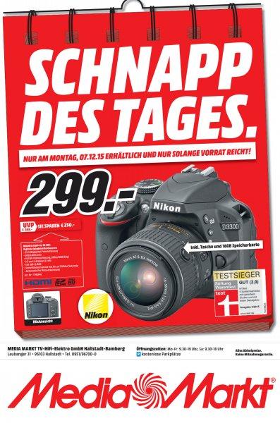 [ MediaMarkt Hallstadt/Bamberg ] NIKON D3300 + Objektiv 18-55 mm VRII - nur am 07.12.15