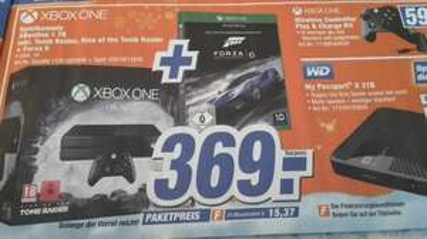 Expert Sachsen Xbox One 1TB Tomb Raider + Forza 6 für 369 Euro