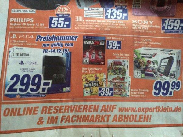 PlayStation 4 1TB Expert Klein (Lokal) 10.-14.12.15