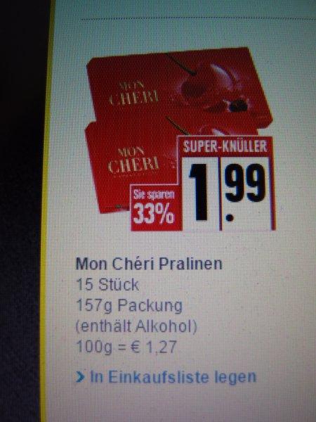 [EDEKA Nord] Mon Chéri Piemont-Kirsche 157g für 1,99 Euro ab 07.12.2015