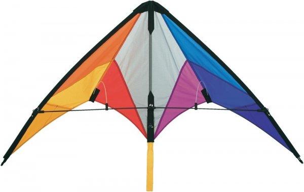 HQ Sport-Lenkdrache Calypso II Rainbow, Spannweite 1100 mm, Windstärken-Eignung 2 - 5 bft, versandkostenfrei für 11,99 €, @SMDV