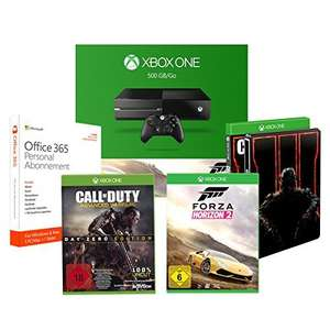 Xbox One 500GB Forza Horizon + Call of Duty: Black Ops III - Standard inkl. Steelbook + Call of Duty: Advanced Warfare - Day Zero Edition + Microsoft Office 365 Personal - 1 PC/MAC - 1 Jahresabonnement