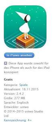 Monument Valley (Spiel) ios App der Woche Gratis!