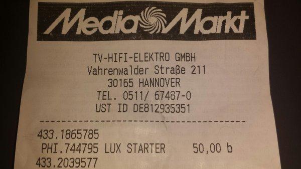 Philips Hue Lux Starter Kit [MediaMarkt Hannover] Statt 99.95 jetzt 50,00 EURO
