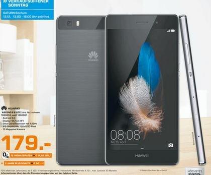 [lokal Saturn Bochum] Huawei P8 lite [LTE, 5 Zoll IPS-HD-Display, 1.2Ghz OctaCore-CPU, 16GB Speicher, 13MP Kamera] in Schwarz für 179,-€