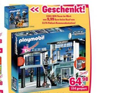 Playmobil CITY ACTION 5176 Polizei-Komandostation