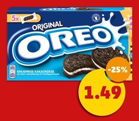 Oreo-Kekse - 220g (5x Minipäckchen) - 1,49€ @ Penny