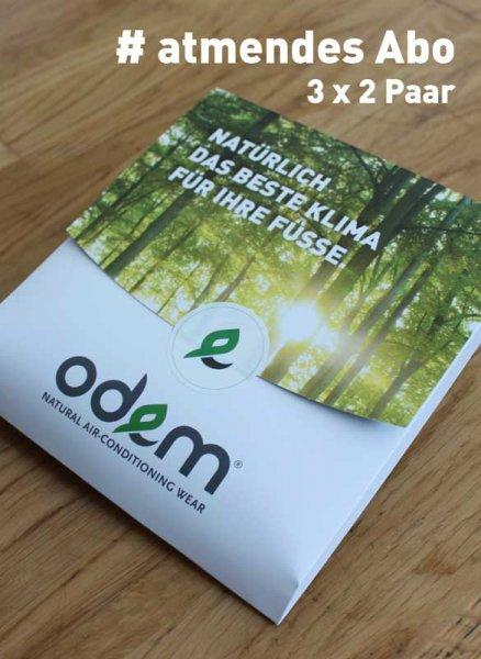 [odem.eu] Socken zu Weihnachten mal anders, im Tencel-Sockenabo bequem nachhause geliefert für 40 EUR statt 59 EUR / 6 Paar