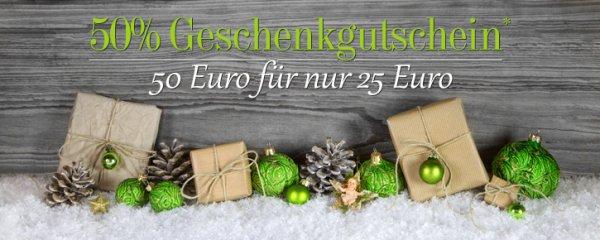 Palmenman 50% Rabatt auf 50 Euro Geschenkgutschein