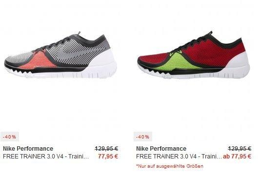 Nike Free Trainer 3.0 V4 ab 77,95€ - Größen 39-49,5 - Versandkostenfrei [Zalando]