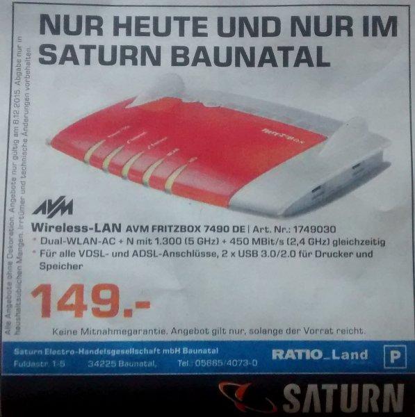 (Lokal) FritzBox 7490 für 149€ im Saturn im Ratio Baunatal