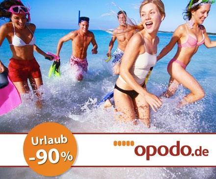 [DailyDeal] opodo.de Reisegutschein im Wert von 100€ für nur 9,90€ (-90%)