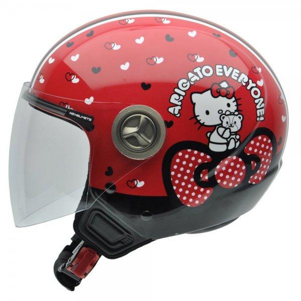 @Amazon:  NZI 490204G676 Helix Hello Kitty, Casco de Moto Helme, Größe : L ab 28,59€