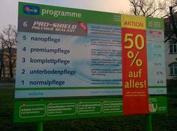 (lokal) 50% auf alle Autowaschprogramme bei IMO Car Wash (Hanau)