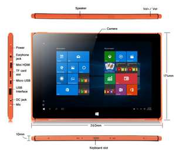 iRULU Walknbook W1002 Win 10 Tablet PC