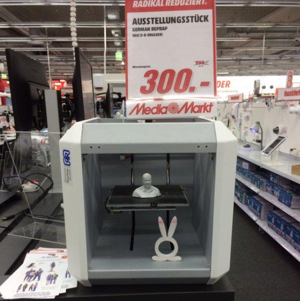 [Lokal Mediamarkt Eschweiler] GermanReprap 3D Drucker 300€