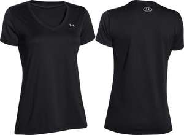 "Under Armour™ - Damen Sportshirt ""Solid Tech SS"" (Grau,Gelb,Pink,Schwarz) ab €13,29 [@Allyouneed.com]"