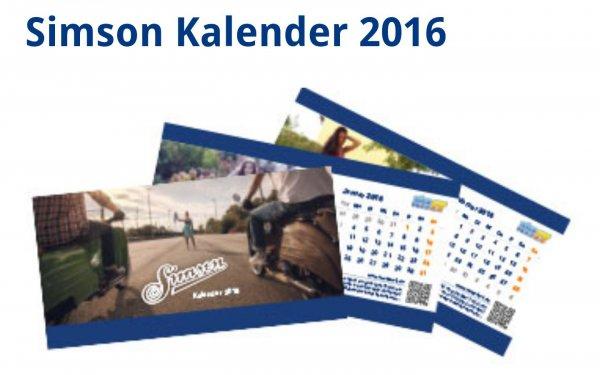 Gratis Tischkalender 'Simsonschnitten'