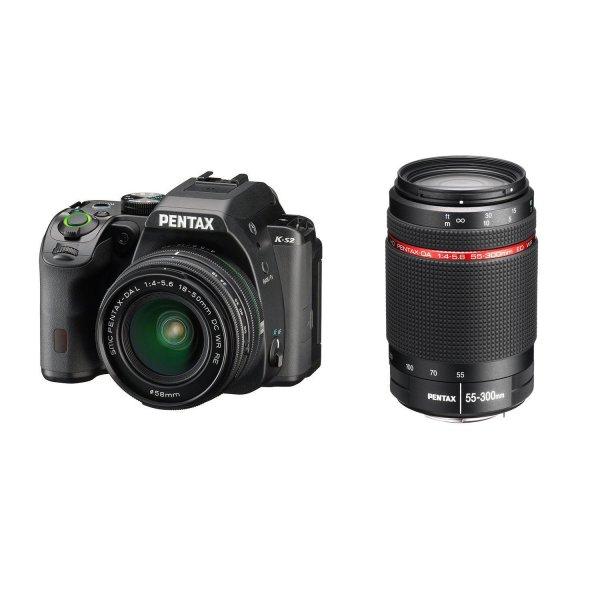 Pentax K-S2 Kit 18-50 mm WR + 55-300 mm WR für 625,84€ bei Amazon.fr