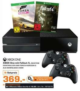 [SATURN Bundesweit] XBOX One 500GB , Forza Horizon 2, Fallout 4 (+Fallout 3 DL) und 2ter Controller (2015)