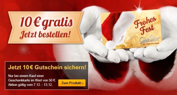 Cinestar Gutscheine 60 EUR für 50 EUR zusätzlich 5% Qipu möglich