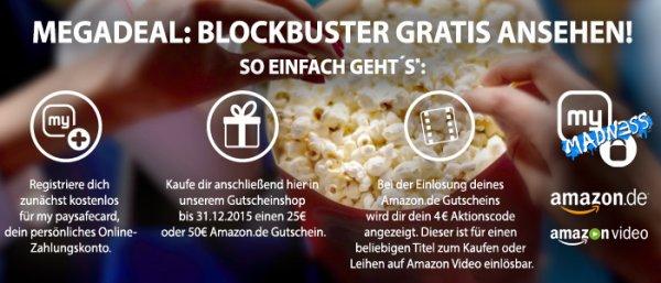 [PSC] 25€ PSC in 25€ Amazon-GS tauschen + 4€ Instant Vid gratis dazu