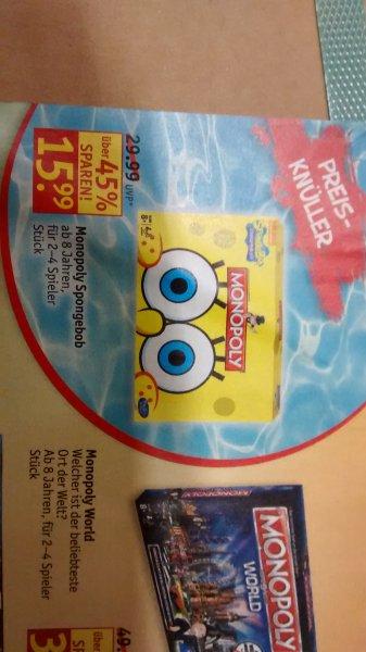 Monopoly Spongebob für 15,99€ @rossmann
