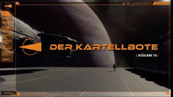 """""""Der Kartellbote"""" Ausgabe 18, PDF (23MB), die Printausgabe von """"Das Kartell"""" - einer Star Citizen Organisations (>1700 Spieler)"""