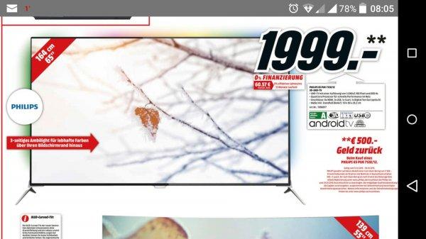 Media-Markt Berlin/BRB evtl. bundesweit: Philips 65PUK7120