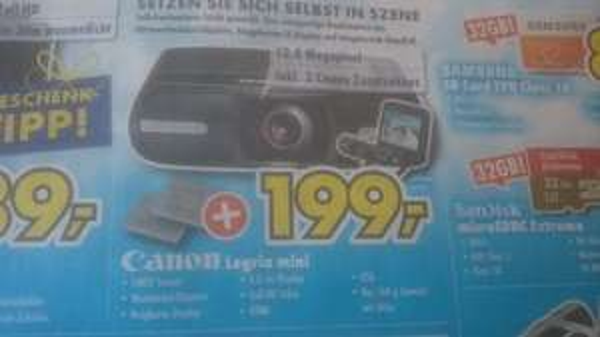 [Lokal] Euronics Canon Legria mini inkl. 2 Canon Zusatzakkus
