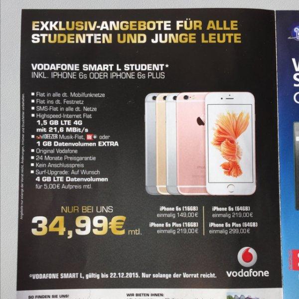 (Lokal: Bochum) iPhone 6s  für Studenten für 988,76 €  @ Campus Ruhr Universität Bochum.