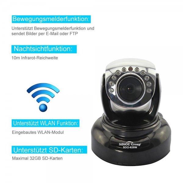 Wansview NCM625GB H.264 Mega Pixel Indoor Drahtlose IP-Kamera für 32,12€