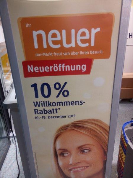 10% Rabatt auf Einkauf bei DM Minden, Ringstraße