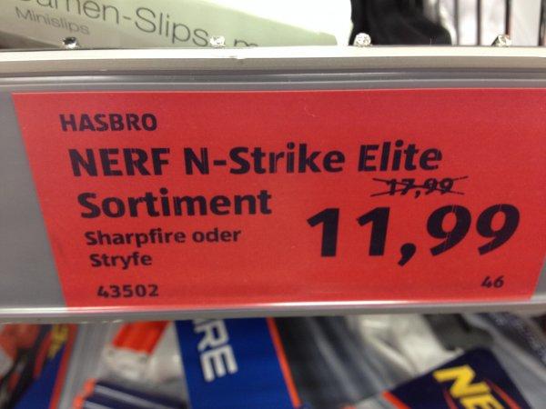 Lokal Mainz Aldi: Nerf Stryfe oder SharpFire +10 Schuss Extra