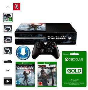 Xbox One 1TB + Rise of Tomb Raider + Tomb Raider:Definitive Edition + 3 Monate Xbox Live Konsolen-Set FÜR 317,49€