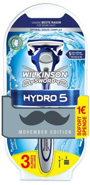 Wilkinson Hydro 5 Rasierer inkl. 3 Klingen (1,06€ je Klinge)@Amazon Tagesangebote