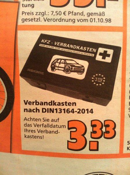 [Globus Baumarkt - bundesweit] KFZ Verbandkasten / Verbandskasten für 3,33€ (KW 51/52)