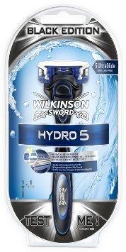 [Amazon Prime] Wilkinson Sword Hydro 5 Rasierapparat mit 1 Klinge in Ultimate Black Edition für 1,79 €