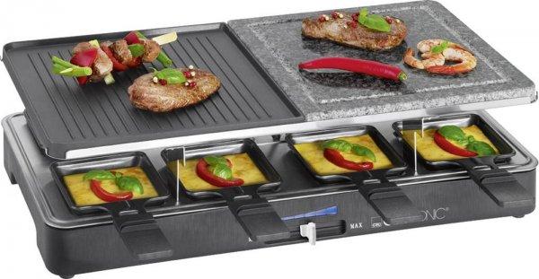 Raclette Clatronic RG 3518 8 Pfännchen Schwarz
