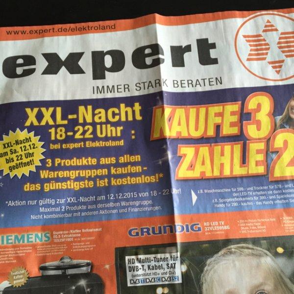 Expert XXL Nacht 3 Artikel Kaufen das Günstigste Gratis Alle Warengruppen (Heidenheim Lokal?)