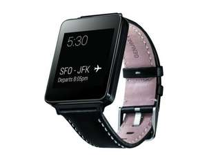 [krev24] LG G Watch W100 Black Limitierte Sonderedition Mit Lederarmband Android Wear 4GB Schwarz
