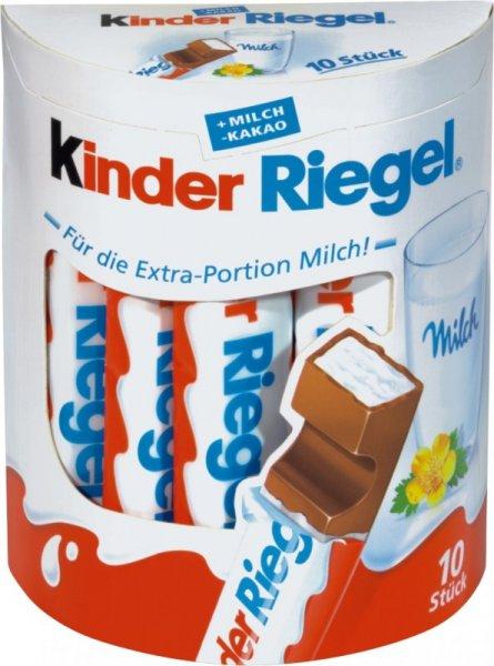 Kaufland (außer BY+BW) - 10er Packung Kinder Riegel für 1,39€ bzw 0,39 mit Coupon