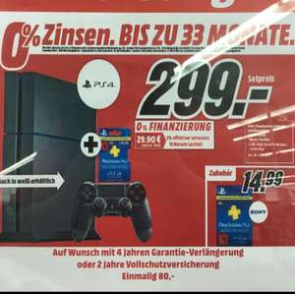 (Neuwied/Koblenz) PS4 Konsole 299,- inkl. 3 Mo. PS+