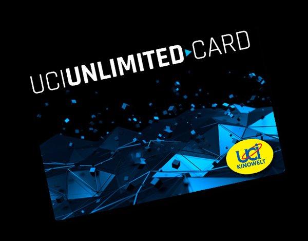UCI Unlimited Card – Eine Karte. Alle Filme. Alle Zuschläge. 12 Monate MVLZ - pro Monat 22,50€