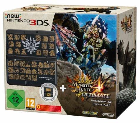 New Nintendo 3DS Monster Hunter mit Spiel und Zierblende für 169,95
