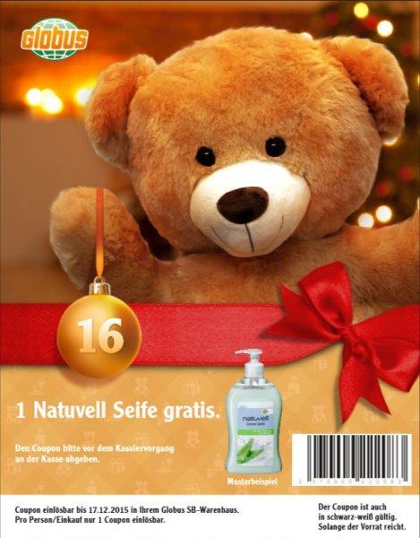 Globus Bundesweit - 1 Natuvell Seife gratis am 16. und 17.12.15 + 2 weitere Freebies