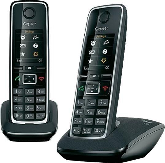 Analoges, schnurloses Telefon C530 DUO in schwarz von GIGASET für 62,49 €, @voelkner.de