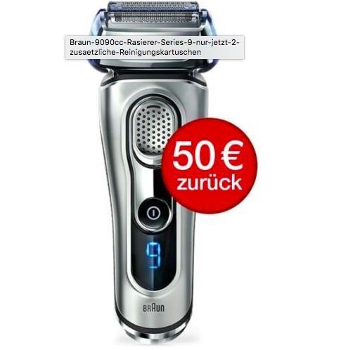 Braun 9090cc Rasierer + 50€ Cashback @ebayWOW