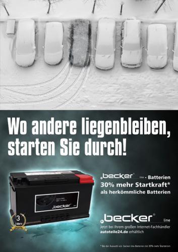Premiumautobatterien von f.becker_line mit 30% mehr Startkraft @autoteile24.de